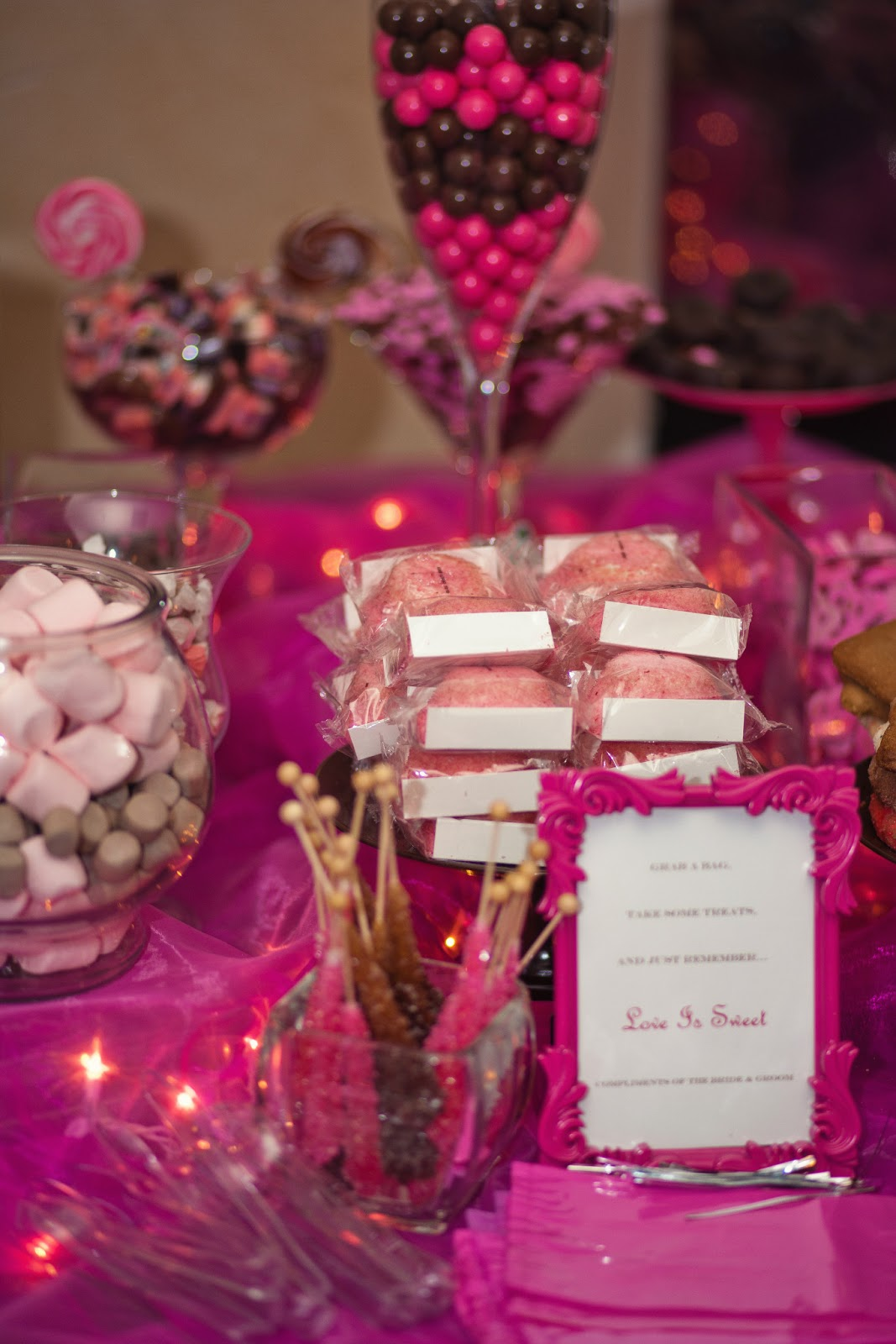 The Busy Broad: Pink and Brown Candy Buffet