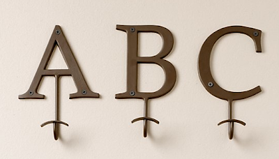 hooks with letters A B C