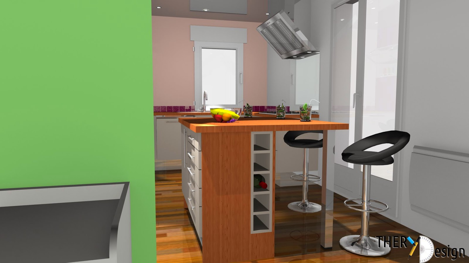 Cuisines et bain kitchens and bath sketchup vers pcon for Cuisine sketchup 8