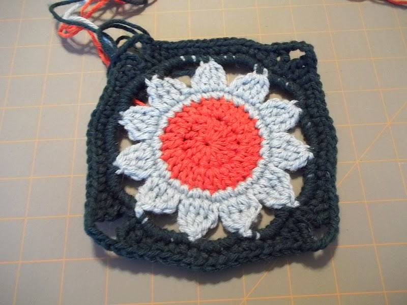 Glorys Garden Flower Crochet Block Pattern