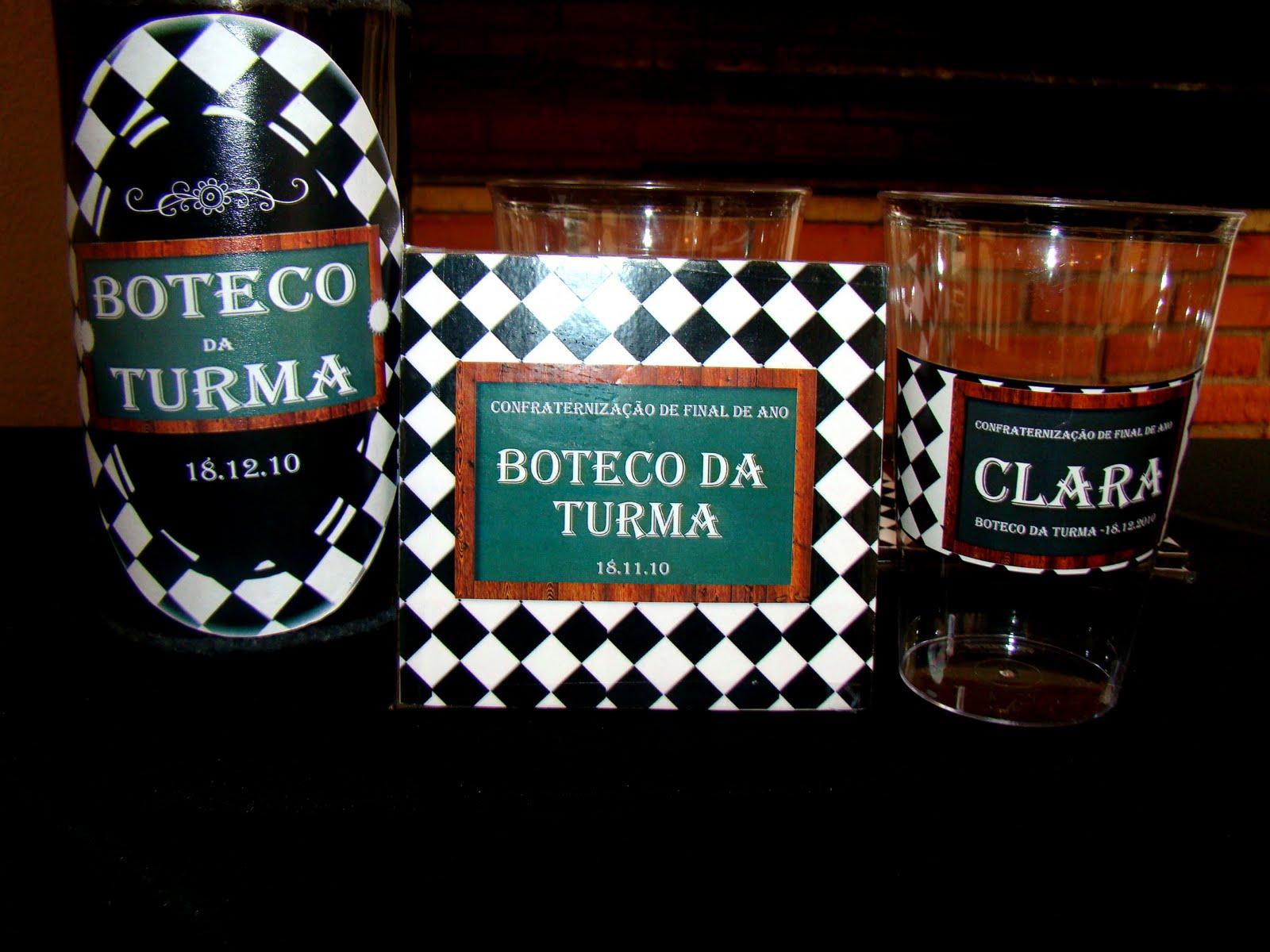 decoracao festa boteco personalizada:Olha o conjuntinho que fofo… garrafa, copo e porta-copo…. tudo