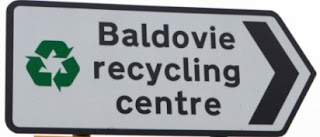 Baldove Recycling Centre road sign