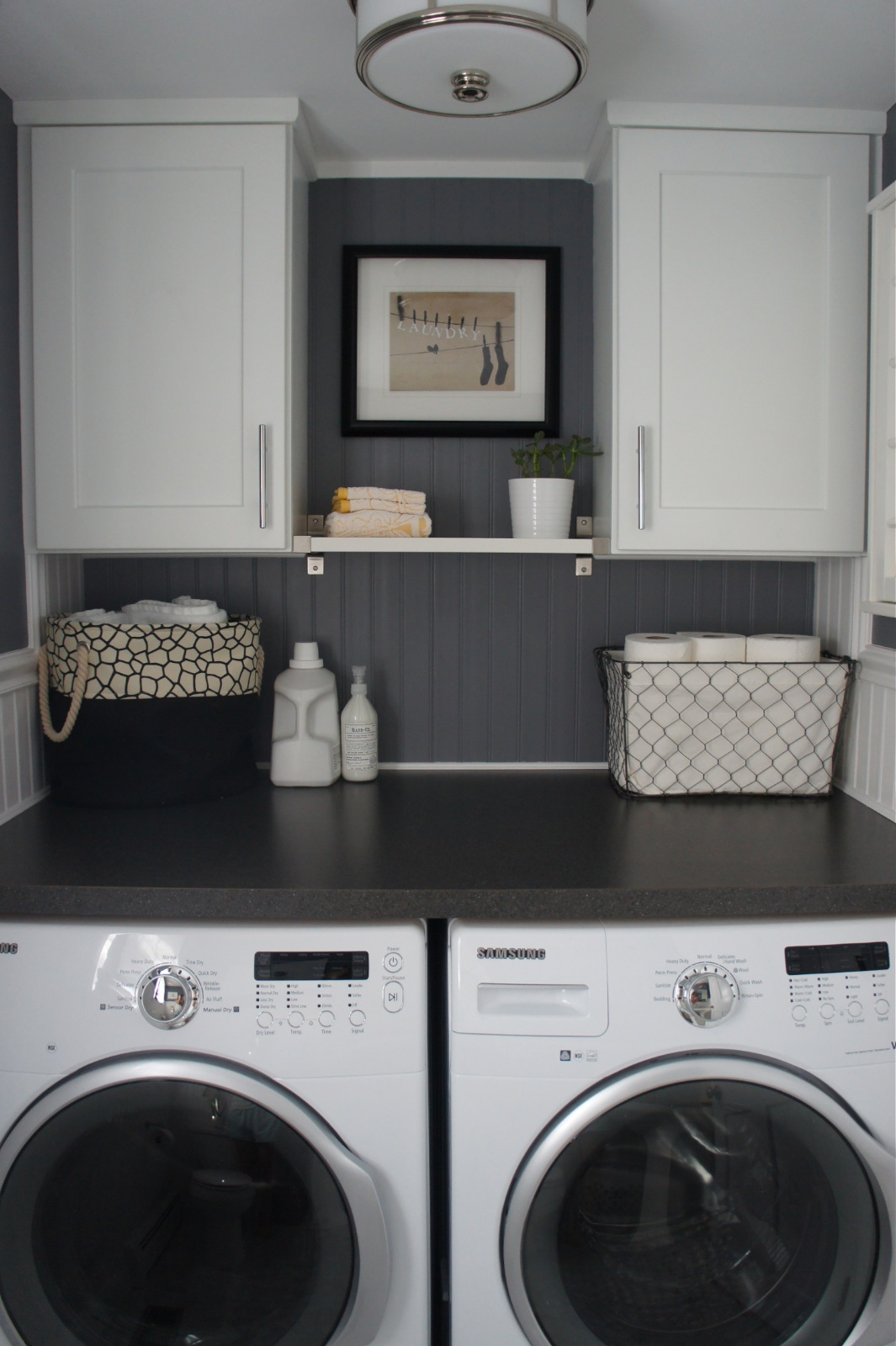 Home with baxter house tour week 5 half bath laundry Laundry room design