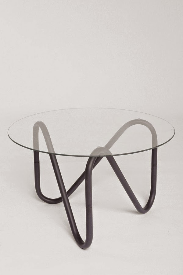 Round Glass Coffee Table For Modern Living Room
