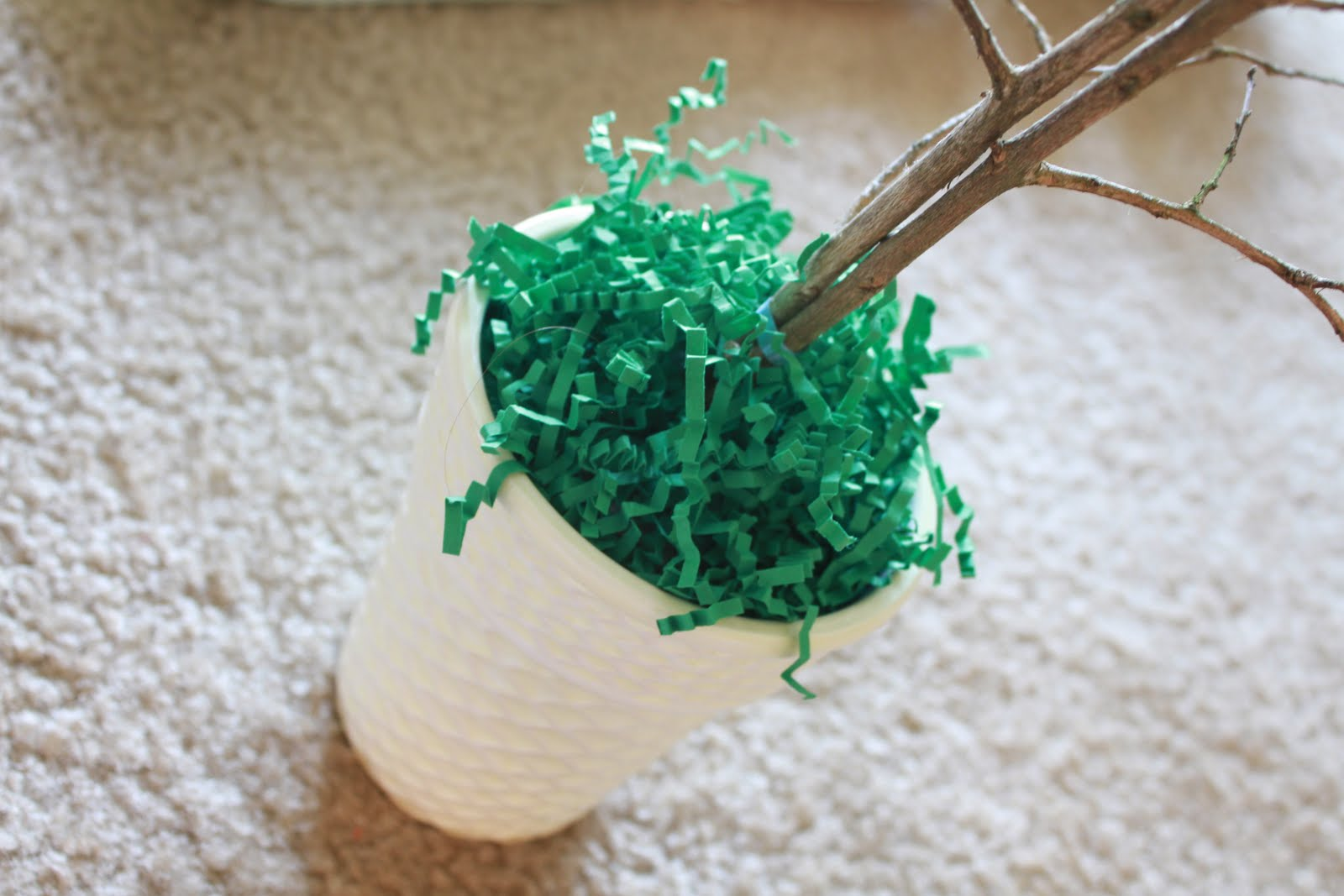 Making our house a home easter egg tree centerpiece How to make an easter egg tree