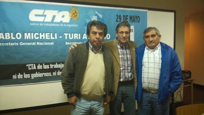 Salvador Agliano reelecto, recibio un fuerte apoyo en la CTA Tucumán