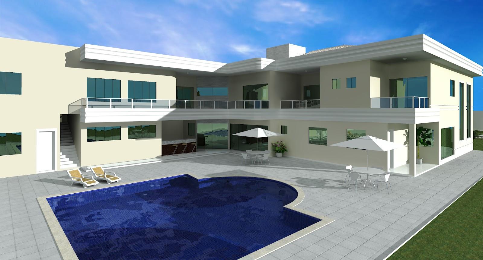 Construindo nossa casa selma fachada 3d for Casas 3d
