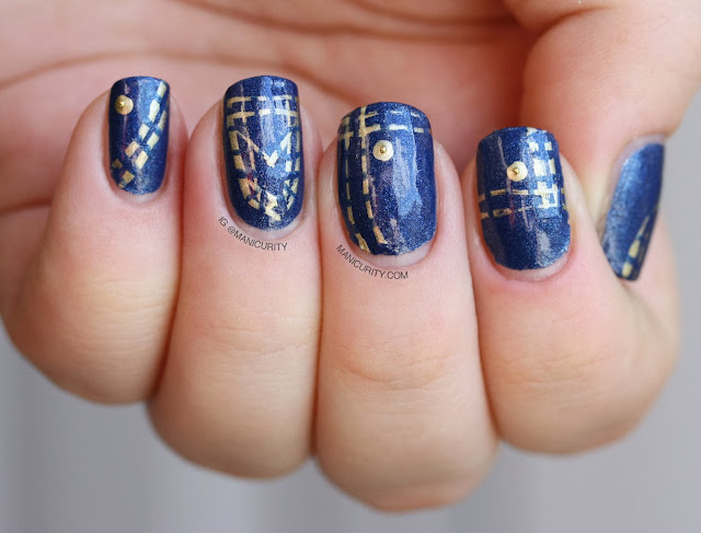 Manicurity | Denim Nail art with Barry M's Denim polish