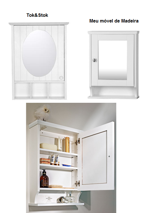 Dulcinéias e Madalenas $$$$$Dicas para organizar o banheiro -> Armario De Banheiro Com Espelho Tok Stok