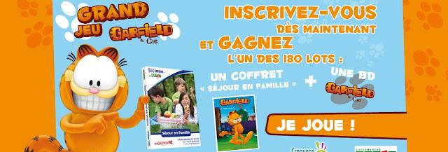 "Grand jeu Garfield: 180 coffrets Happytime avec 1 album BD ""Garfield"" à gagner"