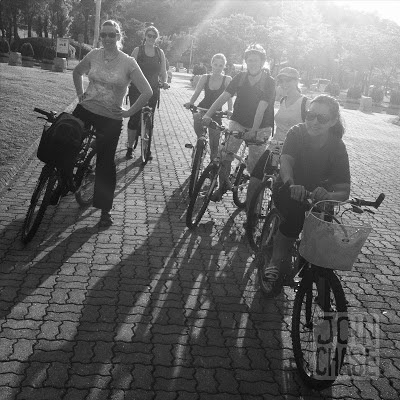 Biking with friends in Ochang, South Korea.