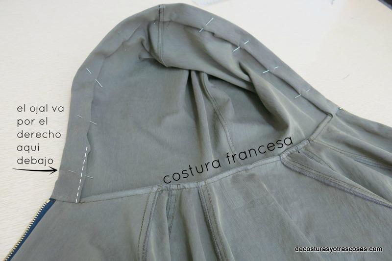 como hacer una chaqueta con capucha