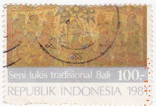 perangko Seri Seni Lukis Tradisional Bali 1981 bawah
