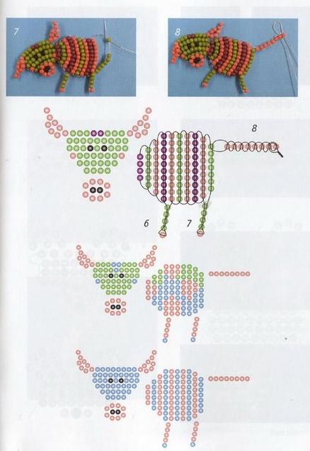 корова схема плетения