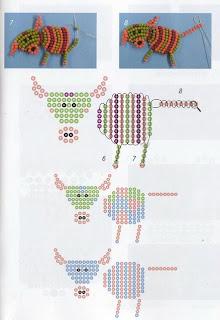 Животные из бисера для начинающих корова схема плетения
