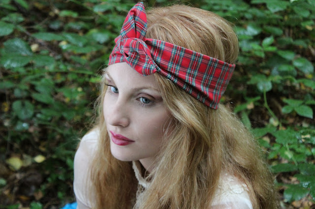 tartan wire headband