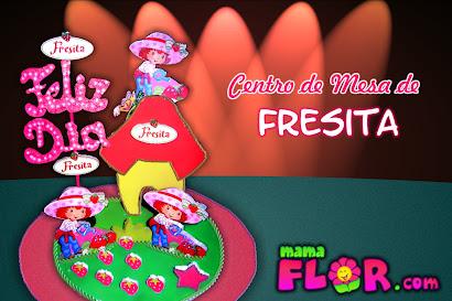 Haz tu propio Centro de Mesa para Fiesta Infantil - Fresita