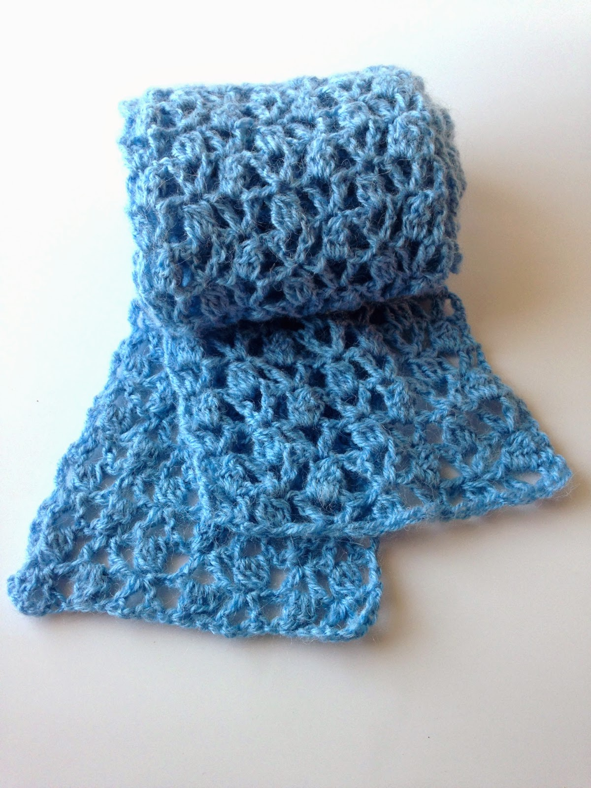 Crocheting Into Fabric : Little Monsters: Lace Cluster Scarf: A Free Crochet Pattern