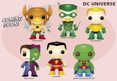 DC Universe Pop! Heroes Wave 3 by Funko - Hawkman, Green Arrow, Aquaman, Two-Face, Captain Marvel & Martian Manhunter Vinyl Figures