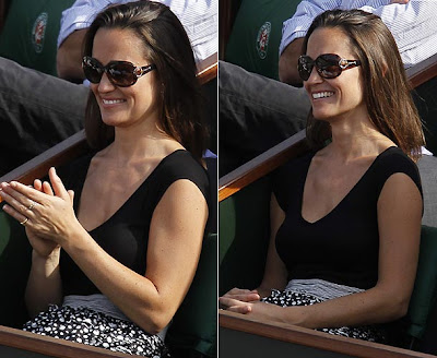 image 3 for pippa middleton at the french open gallery 619105741 Pippa Middleton looks ace in daring top at French Open