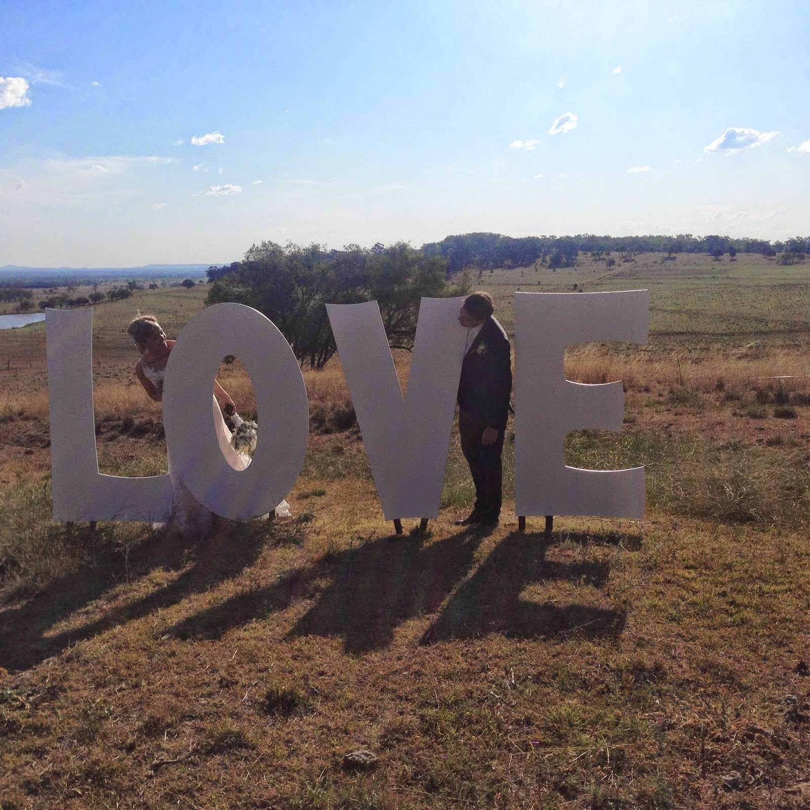 A country wedding Large Love sign