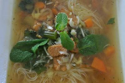 una calda zuppa di miso