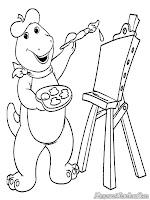 Barney Belajar Melukis