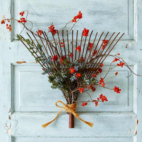 ... my fall door decor and have been looking for a few fresh ideas. Better Homes and Gardens had some wonderful fall wreath ideas. & Still Woods Farmhouse: Fun Fall Door Decor