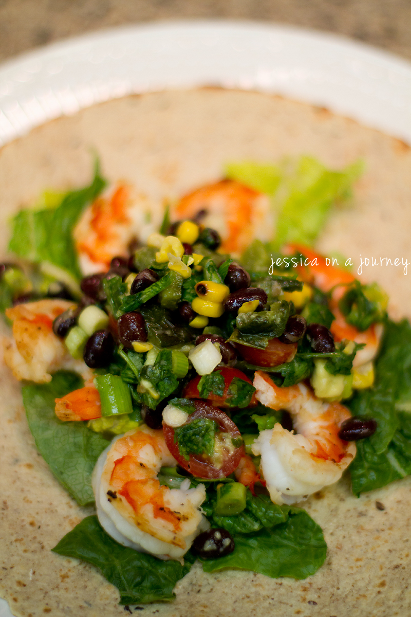 Shrimp Tacos With Grilled Poblano Salsa Recipes — Dishmaps