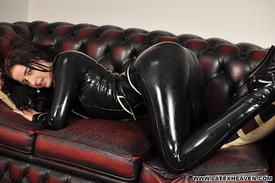 Coral May Hall Sexy Latex Ass in Leggings
