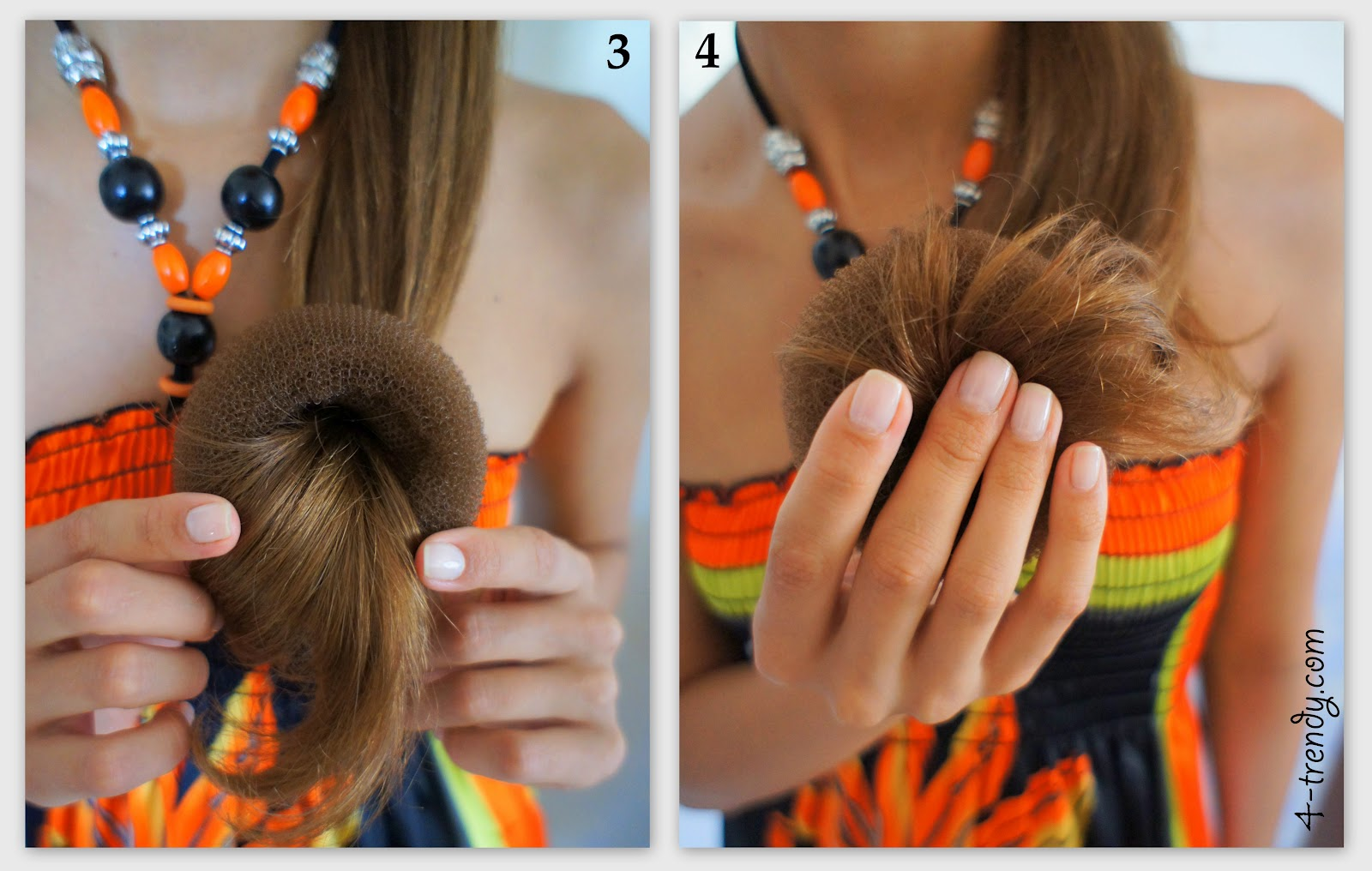 Причёска с мочалкой фото