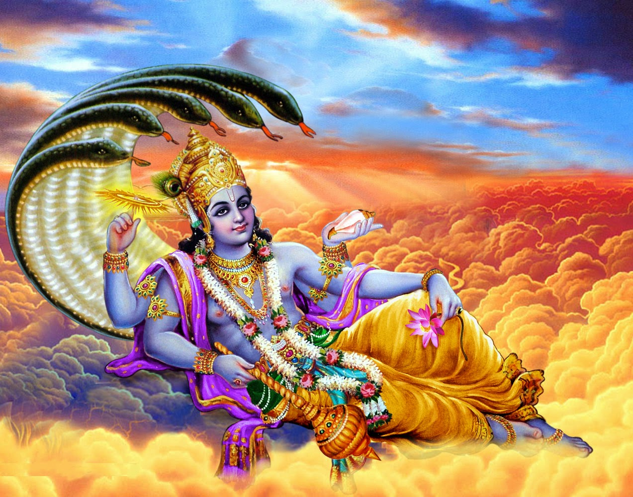 Mythological story of Vishnu and Parvti