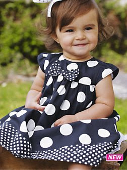 White Dress  Girls on Baby Chic  Always In Style  Polka Dots For Baby Girl   A Blog About