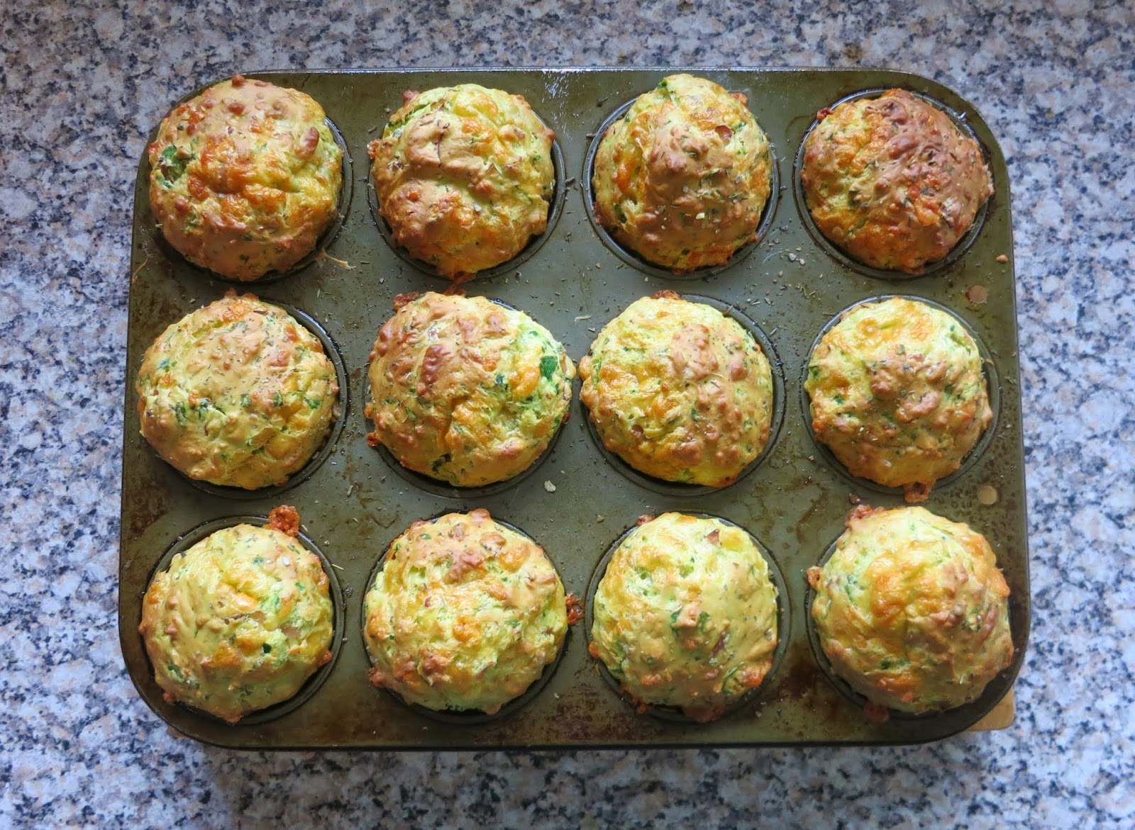 Learn with play at home ham cheese and spinach muffins cooking ham cheese spinach muffin recipe forumfinder Choice Image