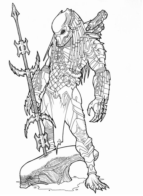 predator alien coloring pages - photo#9