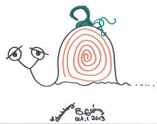Dummberry as a swirly pumpkin for Happy October 1st Day 2013 - BeckyCharms & Co.