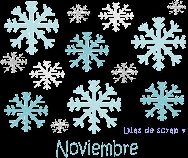 scrap calendario freebies descargables Página del calendario de mes de Noviembre