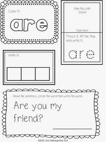 the interactive journal covers all 52 words in the dolch primer sight word list here are some pictures of the product