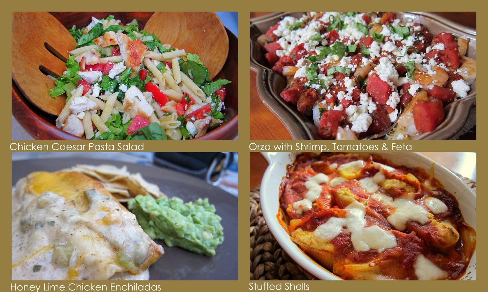 Pasta salad, enchiladas, shrimp and more - dishes to host a casual dinner party