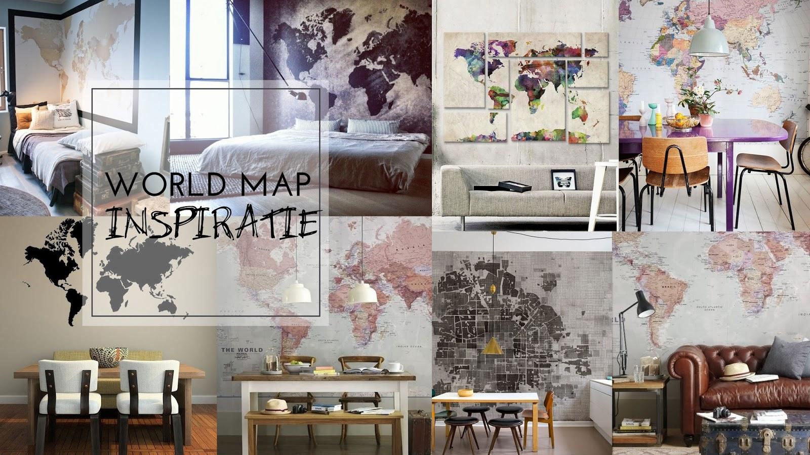 Wereldkaart muren inspiratie   judith huls