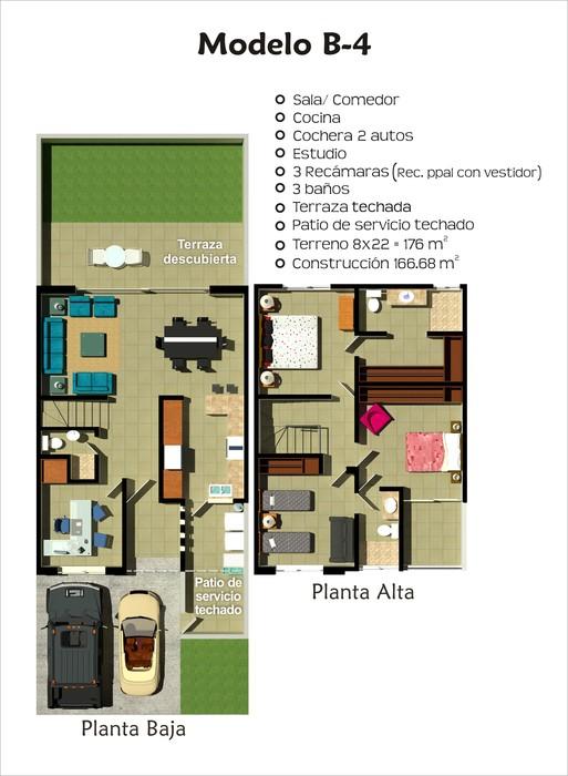Planos de casas y plantas arquitect nicas de casas y for Que es una planta arquitectonica