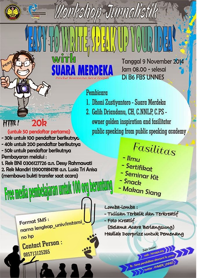 "Workshop Jurnalistik ""Easy To Write, Speak Up Your Idea"""