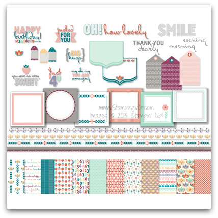Stampin' Up! So Nice Digital Kit Digital Download