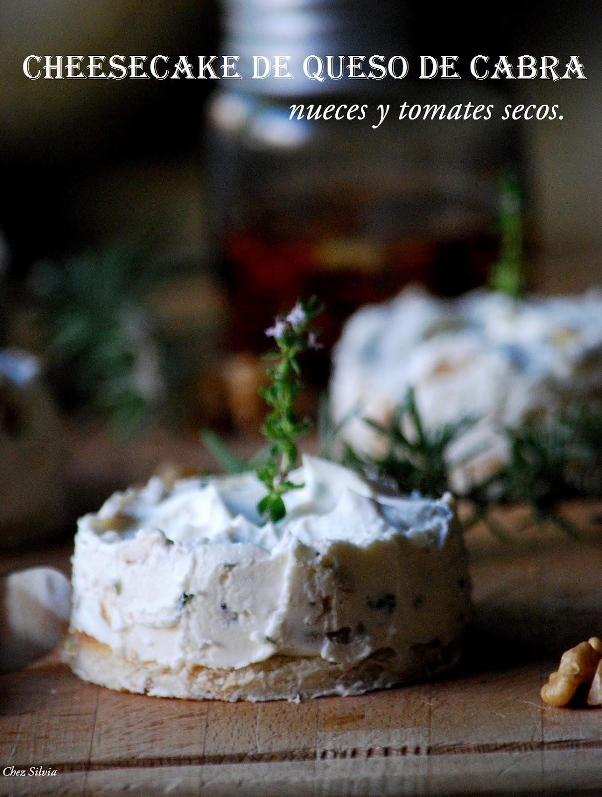 Cheesecake de queso de cabra nueces y tomates secos - Queso de cabra y colesterol ...