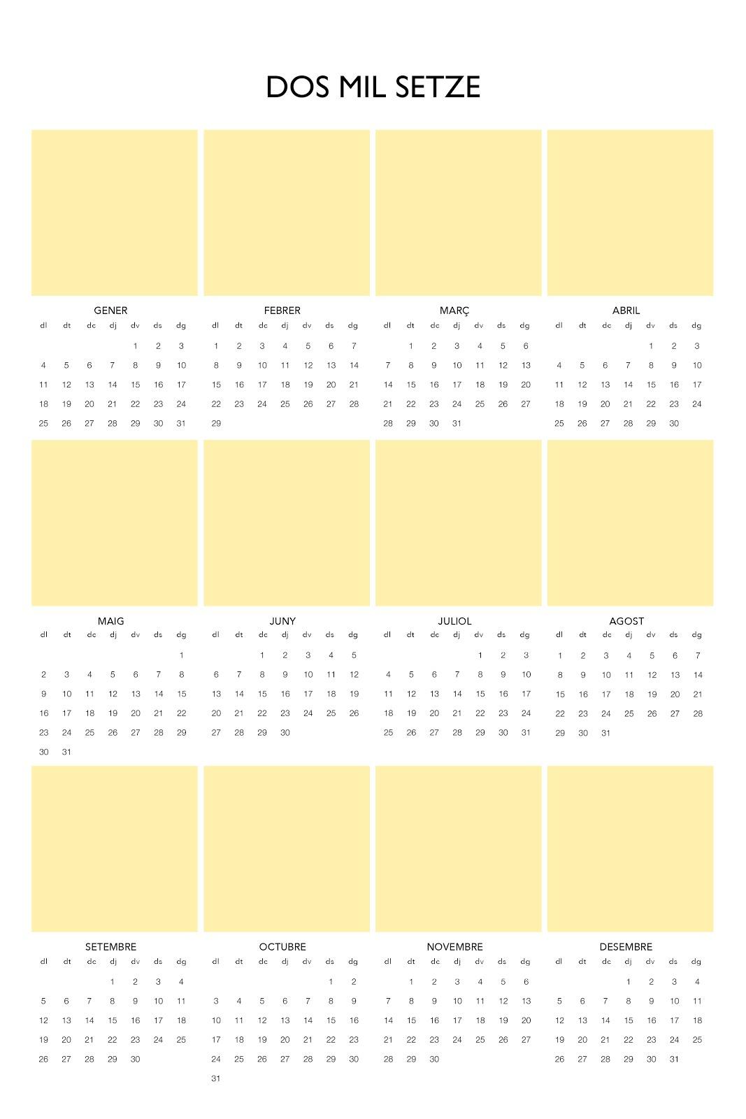 Calendari 12 fotos