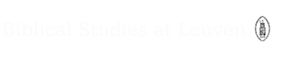 Biblical Studies at Leuven