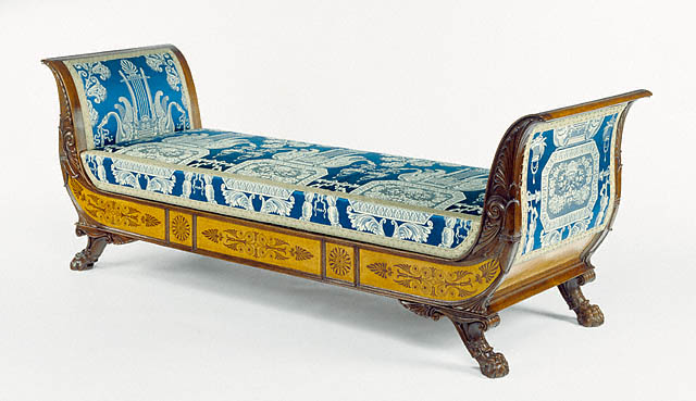 Filippo Pelagio Palagi, daybed, ca 1842. Italian. Maple inlaid with mahogany, Getty Center, Los Angeles