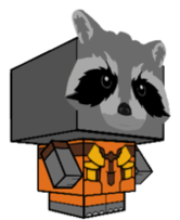 Guardians Of The Galaxy Papercraft Rocket Cubeecraft