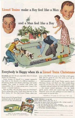 Vintage Toys And Pastimes 1950s LIONEL TRAIN CHRISTMAS