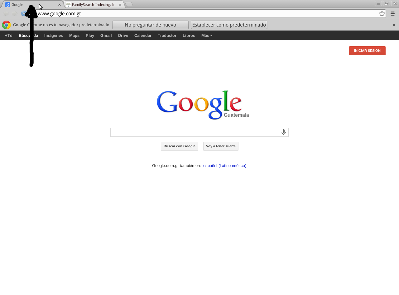 moverse por las pestañas de google chrome